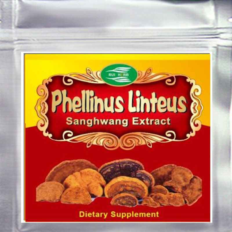 10.6oz (300g) Phellinus Linteus (Sanghwang) Extract Powder 30% Polysaccharide free shipping 1pack 100% natural pleurotus ferulae extract powder 30% polysaccharide 500mb x 300caps enhance the bodys immune
