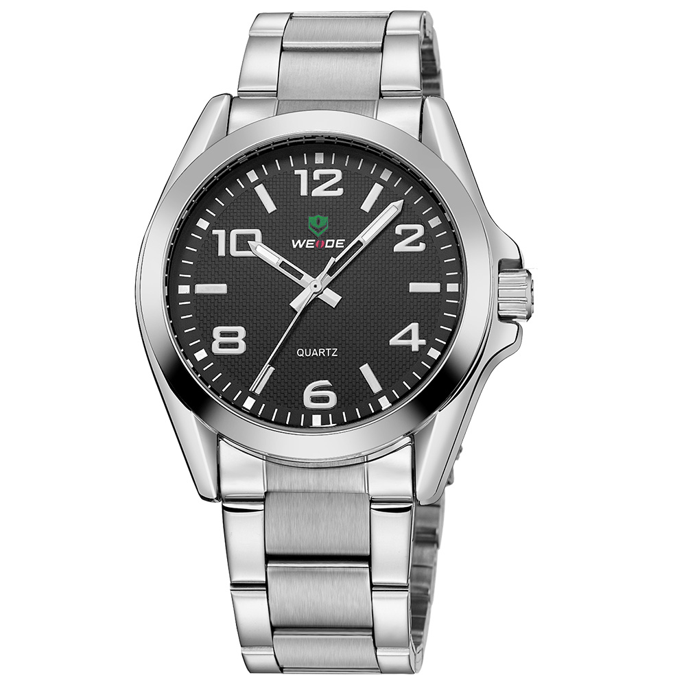Top Brand WEIDE Man Sport Watch Men Quartz Analog Display Stainless Steel Band Watch Man Waterproof Wristwatches Hombre Relogios