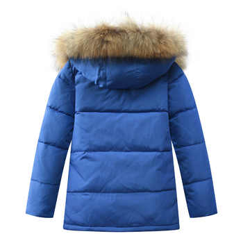 Boys Thick Down Jacket 2019 New Winter New Children Raccoon Fur Warm Coat Clothing Boys Hooded Down Outerwear -20-30Degree