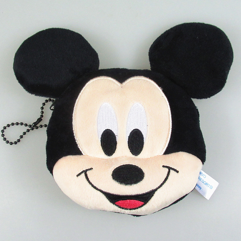 New 12cm Minnie Mickey Plush Toys for Kids mickey Coin Purses Bag Pendant Kids Gifts in Dolls Accessories from Toys Hobbies