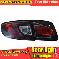 Car Styling Tail Lamp for Mazda3 M3 LED Tail Light 2006 2012 M3 New Altis LED Rear Lamp LED DRL+Brake+Park+Signal Stop Lamp