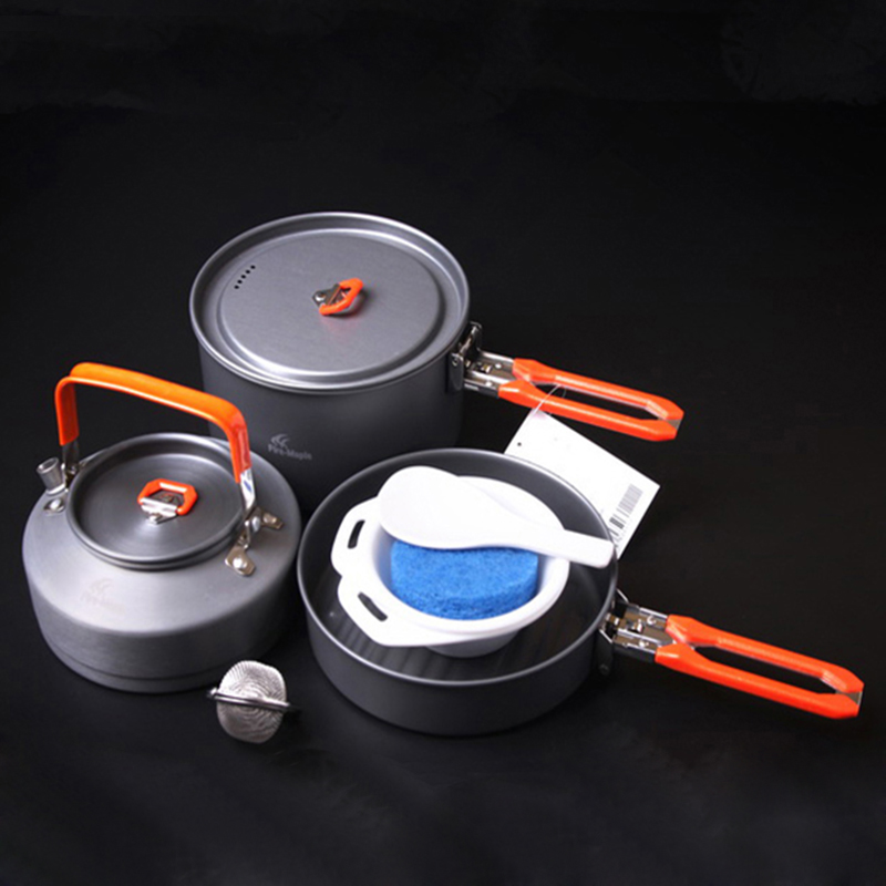 Venta caliente 2-3 Personas Utensilios de cocina de Camping Conjunto Medium Olla