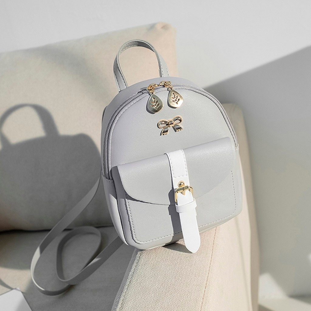 HTB1lk1dNbvpK1RjSZFqq6AXUVXad Convenient fashion Travel Fashion Lady Shoulders Small Backpack Letter Purse Mobile Phone mochilas Canta