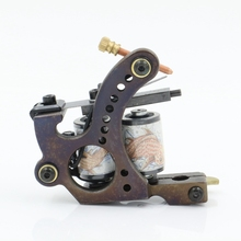 Coil Tattoo Machine 10 Warps Cheap-Tattoo-Machines Cast Iron Liner Shader Handmade Tattoo Machines TM-105