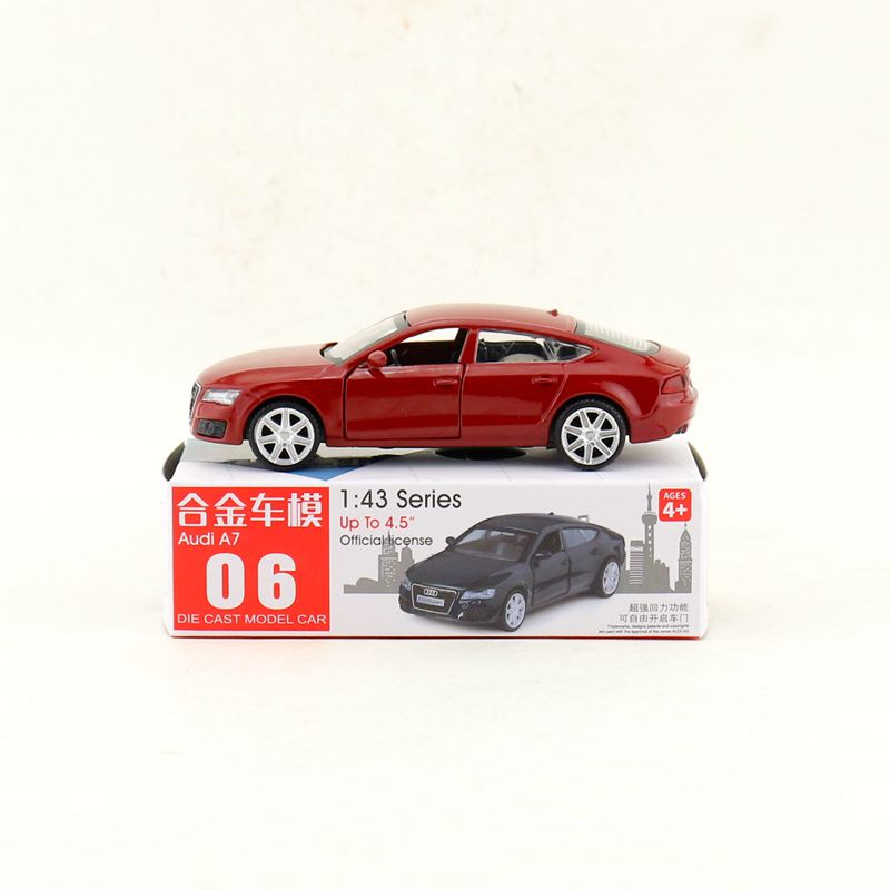 Box Gift Model,High Simulation 1:43 Alloy Pull Back AUDI A7 Model Cars,Original Packaging,selling Toys,free Shipping