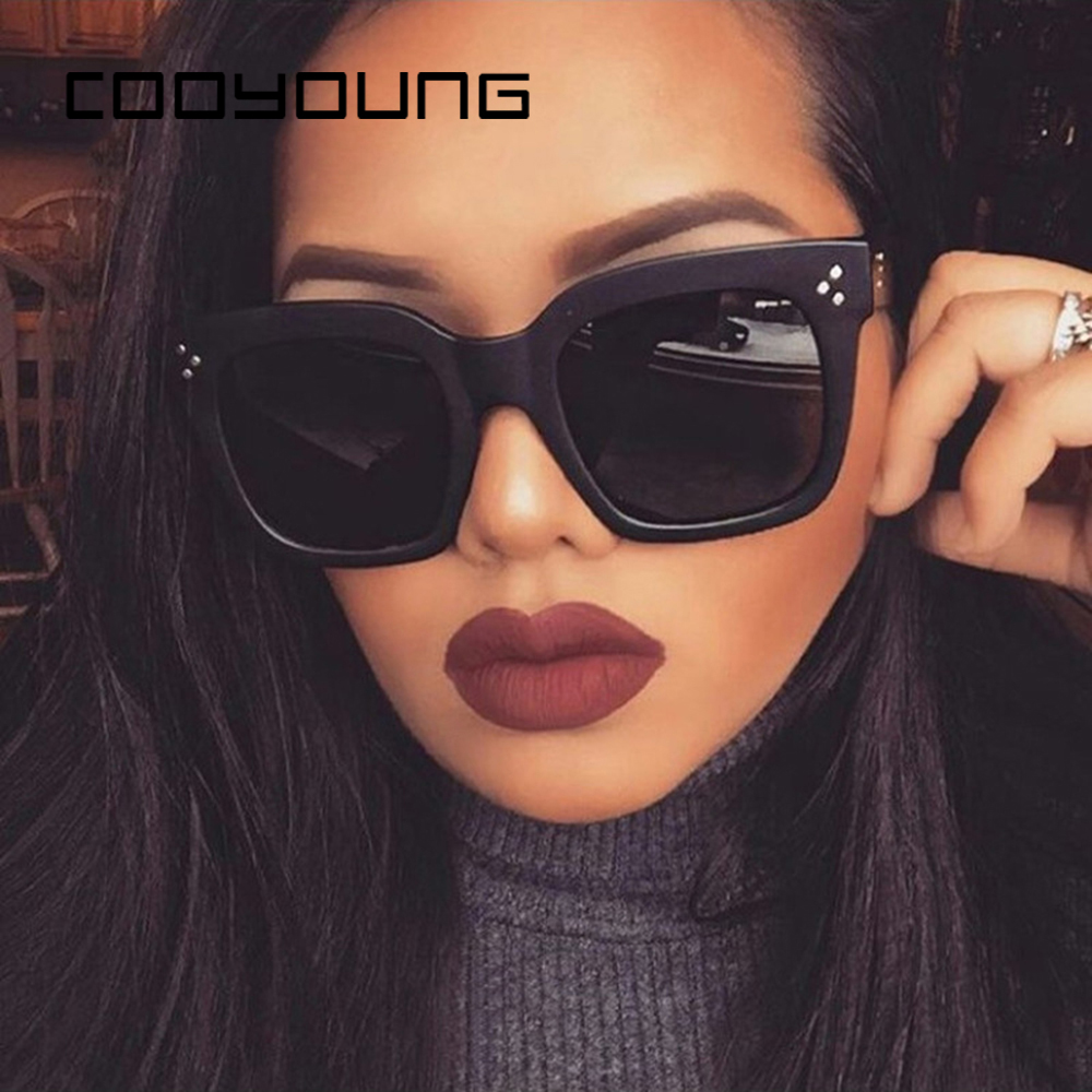 COOYOUNG Fashion Square Sunglasses Women Designer Luxury Man/Women Sun Glasses Vintage UV400 Outdoor Oculos De Sol