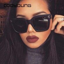 COOYOUNG Fashion Square Sunglasses Women Designer Luxury Man
