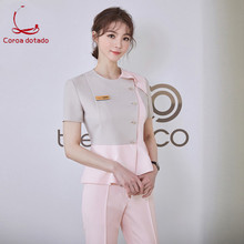 Female summer beauty salon cosmetician work clothes mother and baby nurse skin manager trousers