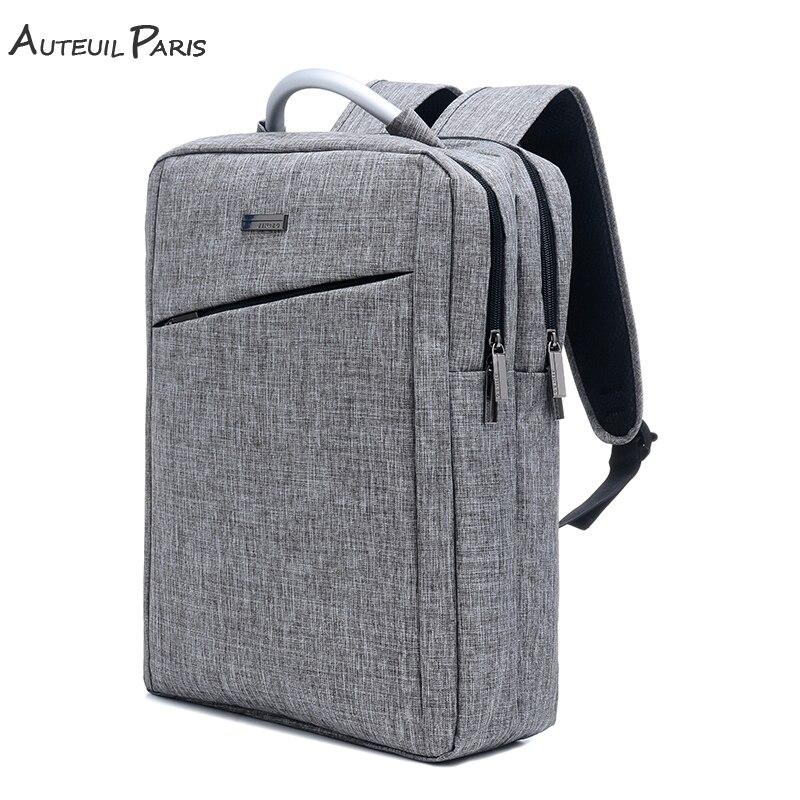 AUTEUIL PARIS 2018 New laptop backpack Hard Handle Leisure Shoulders Bag School Backpack Multifunctional Big Capacity gray