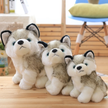 Kawaii Puppy Stuffed Toys 18cm23cm Cute Simulation Husky Dog Plush Toys Stuffed Doll Kids Baby Toys Girls Gift toys for children 18cm genuine husky plush toys cute soft animal dog toys doll creative gift for kids birthday gift