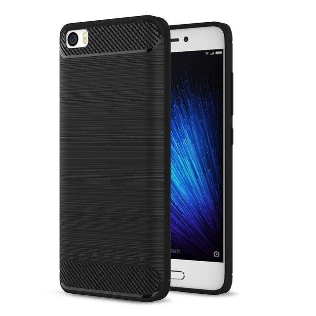 on sale b5da5 50ff6 US $3.21 |Xiaomi Mi5 Case Carbon Fiber Soft Silicone Cover Xiaomi Mi 5  Luxury Shockproof Slim Protection Phone Shell Xiaomi Mi5 Pro Prime-in ...