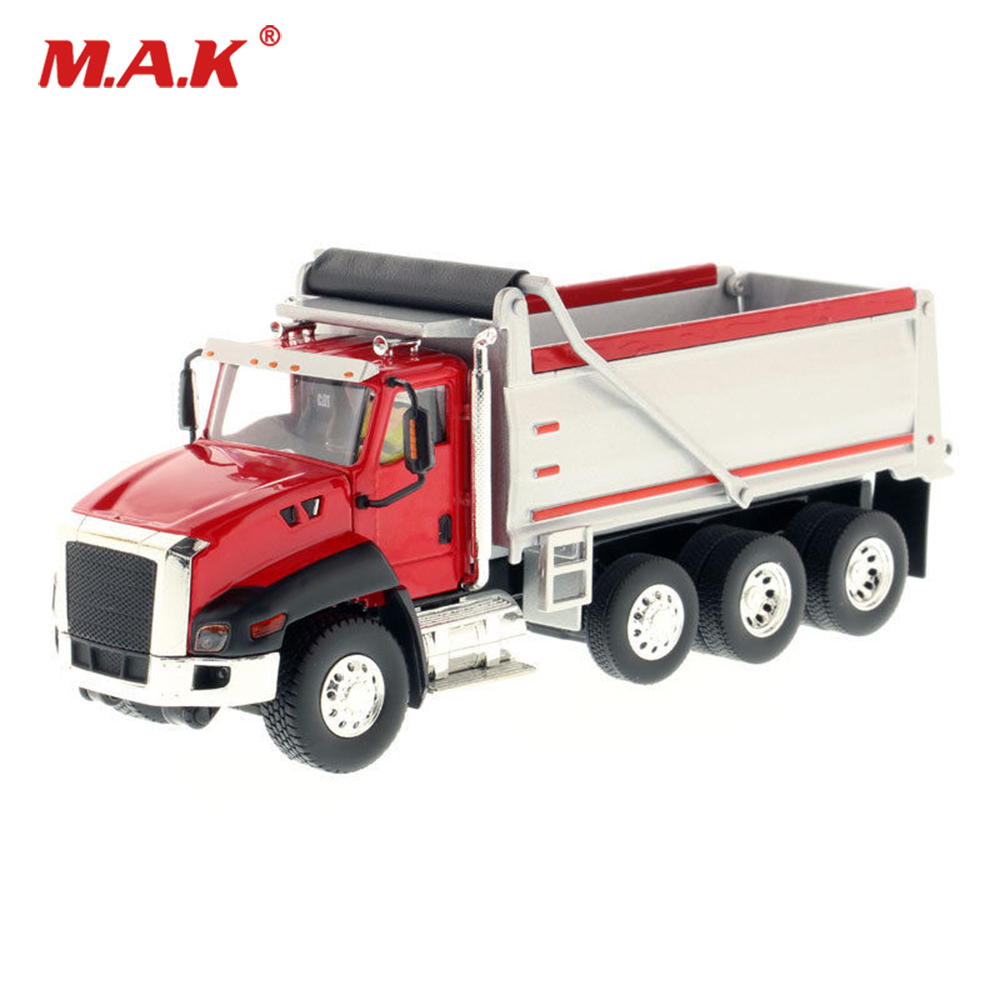 1/50 Scale Diecast Automatic Loading and Unloading CT660 Dump Truck in Red Construction Vehicle Toy for Collection Gift