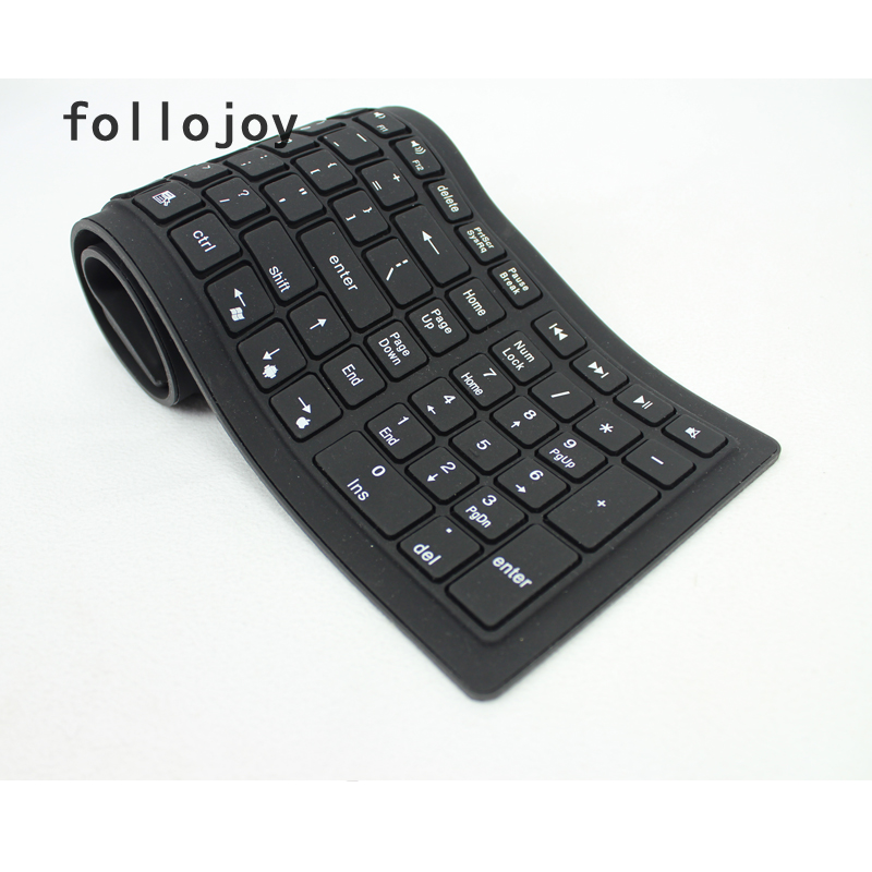 Image 4 - 107 key wireless soft keyboard supports windows Android Apple Bluetooth-in Replacement Keyboards from Computer & Office