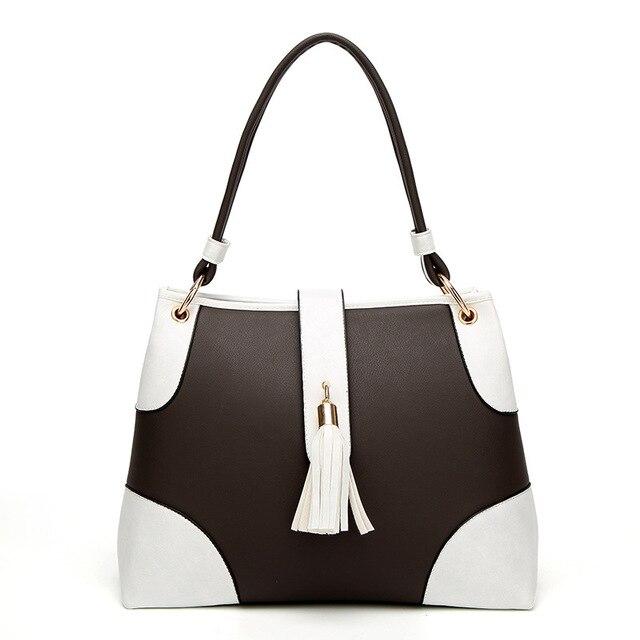 cc5493d043dc5 2019 New Vintage Tassel Shoulder Bags Girls PU Leather Retro Woman  Crossbody Bags Solid Color Fashion Drawstring Female Bags