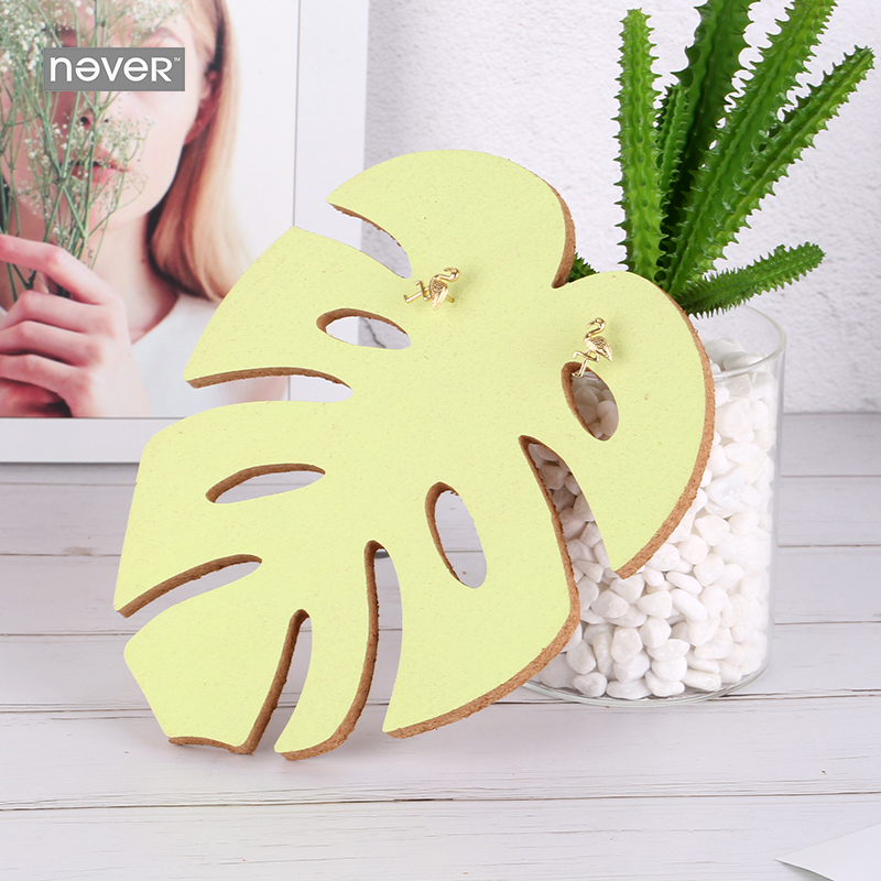 NEVER Plants series leaf shape Push pin cork board Message Boards thumbs tack accessorie memo notes office decoration supplies цена и фото