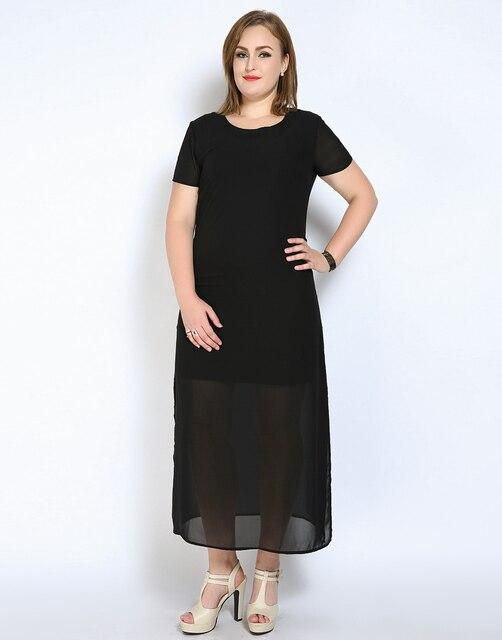 Cute Ann Womens Plus Size Summer Casual Tunic Dress White Black