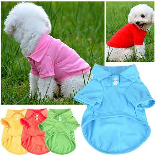 Cute Pet Puppy Polo Shirt Small Dog Cat Pet Clothes Costume Apparel T-Shirt Pet Dog Supplies