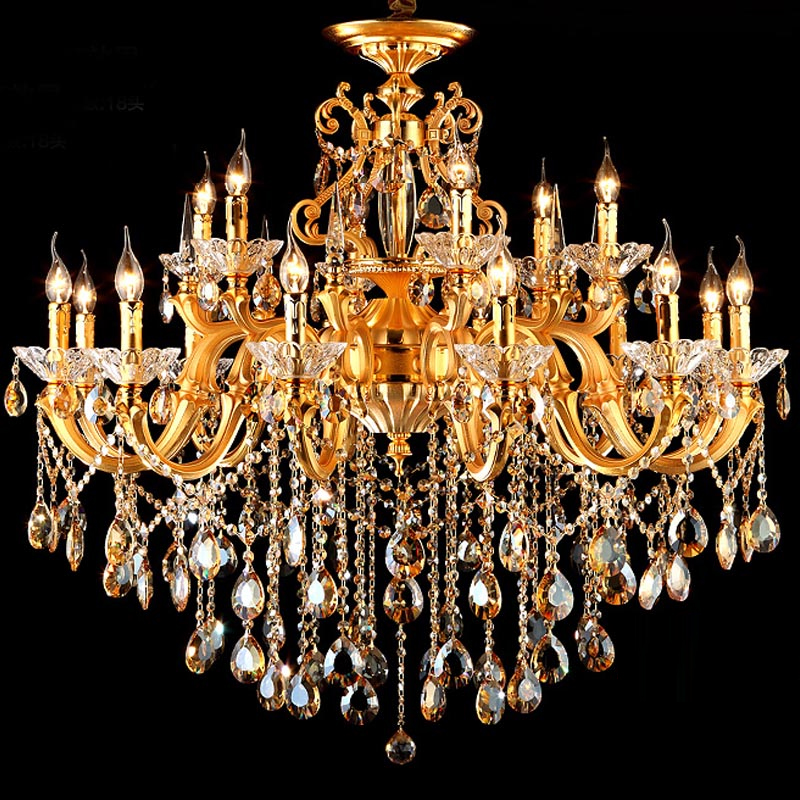 Goldkristallleuchter-Schmiedeeisenhauptbeleuchtung führte moderne - Innenbeleuchtung