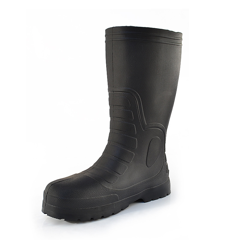 Alealfalling Men's Eva Foam Rain Boots Thick High Medium Low Rain Boots Work Shoes Non-slip Wear-resistant Acid-resistant Soda
