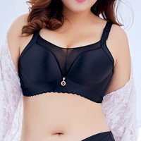Ladies Thin Bra Push Up Diamond Lace Bandeau Seamless Large Size Bra Big Size Cotton Crop