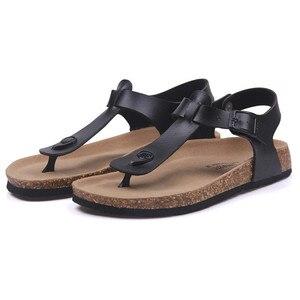 Image 3 - COSMAGIC Fashion Cork Sandals 2020 New Women Summer Buckle Strap Solid Non slip Beach Sandalias Shoe