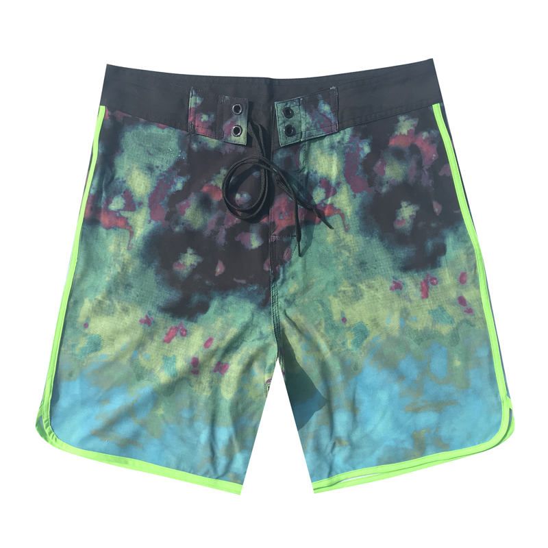 2019 Men's Polyester   Board     Shorts   Summer Beach Pants Quick Drying Swimwear Male Swim   Shorts   Swimming Trunks surfing boardshorts