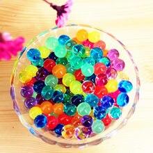 1970835bb 500 unids/bolsa agua planta Flor de cristal del suelo barro perlas de agua  perlas de Gel bolas decoración florero de cristal de .