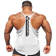 c37c691cbda7b New Brand Fitness Clothing Bodybuilding Stringer Tank Top Men Cotton Curved  hem Sleeveless shirt Y back