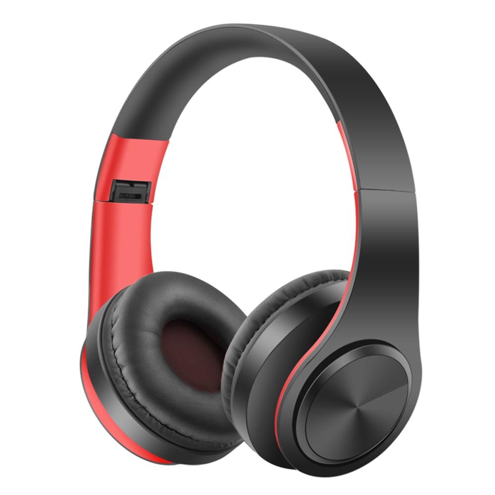 Sans fil Bluetooth Écouteurs Stéréo Pliable Casque Super Bass Casque Portable avec HD Mic mp3 Soutien SD carte