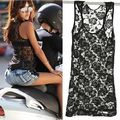Lazer das Mulheres Soltas Casual Floral Rendas Sem Mangas Colete T Topos Camisa Blusa