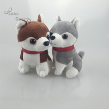 50PC/Lot Mini Husky KeyChains Plush Toys,Promotional Dog Keychain Gifts,Woman Bag Car Keychain Gift Toy