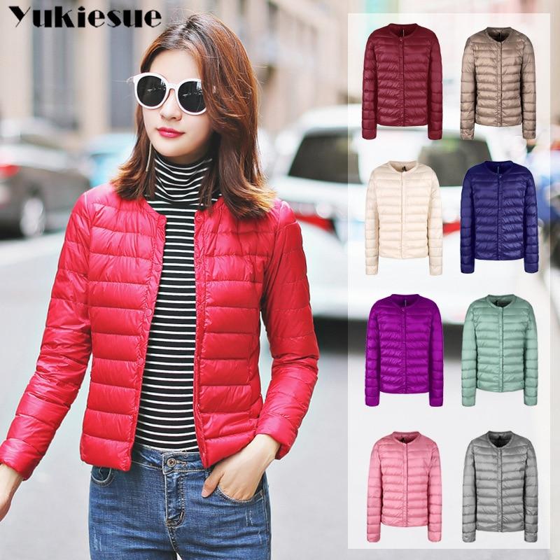 women's   Down   jacket women hooded 95% duck   down     coat   Ultra Light warm Plu large size Female Solid Portable   down   jacket winter