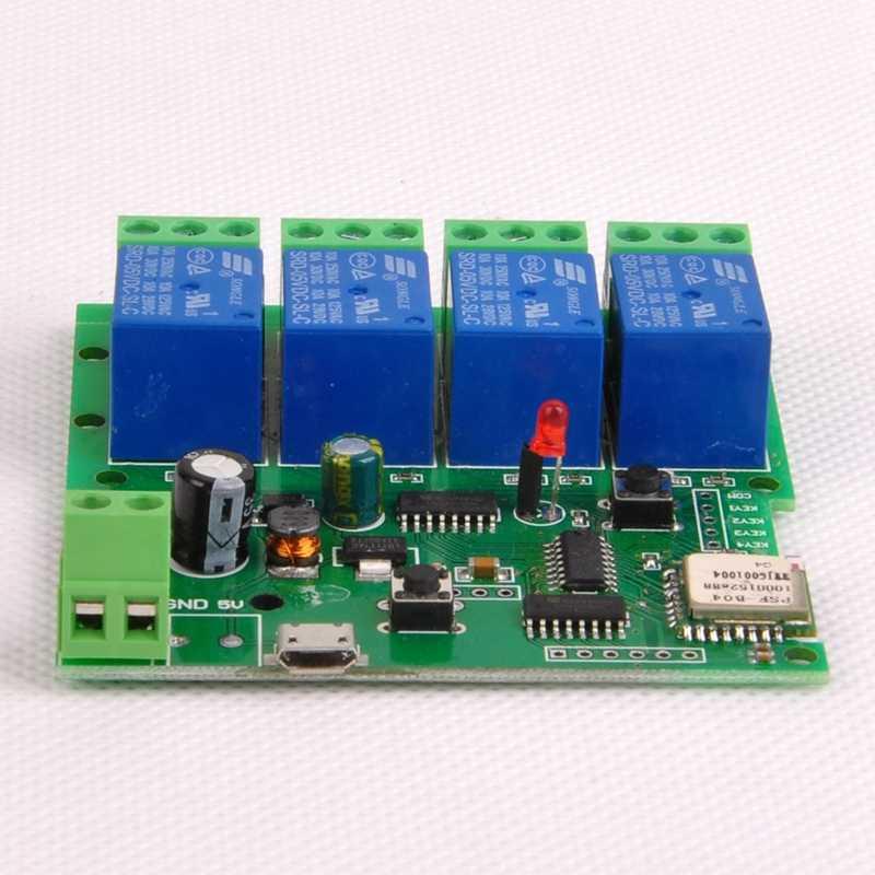 Para Dc7-32V 4Ch Wifi interruptor inalámbrico módulo de relé domótica inteligente para sistema de Control de acceso/bloqueo automático