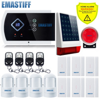 Wireless Outdoor Solar Powered Strobe Alarm System intelligent burglar home security system and Wireless GSM Alarm Quad band