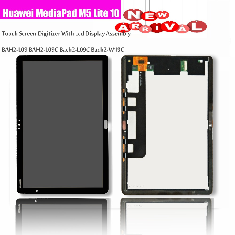 10.1 Huawei MediaPad M5 Lite LTE 10 BAH2-L09 BAH2-L09C Bach2-L09C Bach2-W19C Touch Screen Digitizer Con Display Lcd Assembly10.1 Huawei MediaPad M5 Lite LTE 10 BAH2-L09 BAH2-L09C Bach2-L09C Bach2-W19C Touch Screen Digitizer Con Display Lcd Assembly