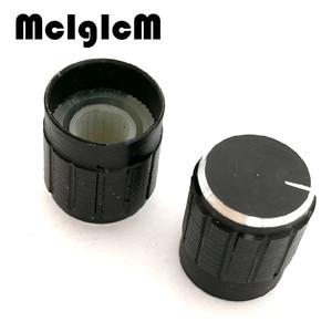Image 2 - 500 個 15*17 ミリメートルアルミ合金ポテンショメータノブロータリースイッチボリュームコントロールノブ黒