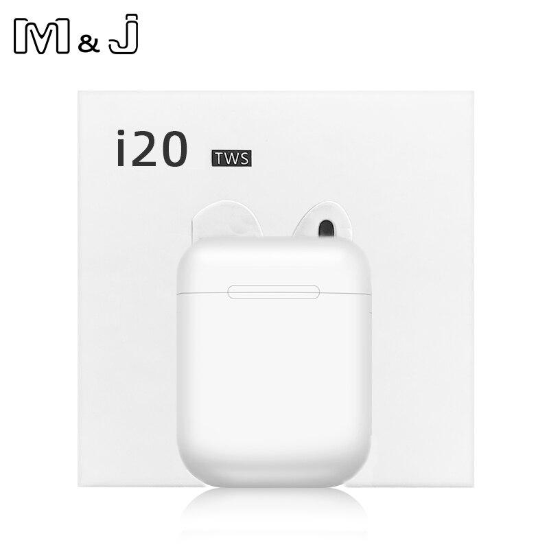 I20 Tws Touch Control Wireless Bluetooth 5.0 Earphones 3D Super Bass Headphones Pk I10 I12 I77 I30 I60 I80 I88 I100 I90 TWS