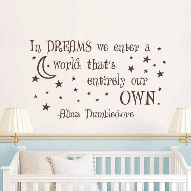 Battoo Albus Dumbledore Wall Stickers For In Dreams We Enter A World
