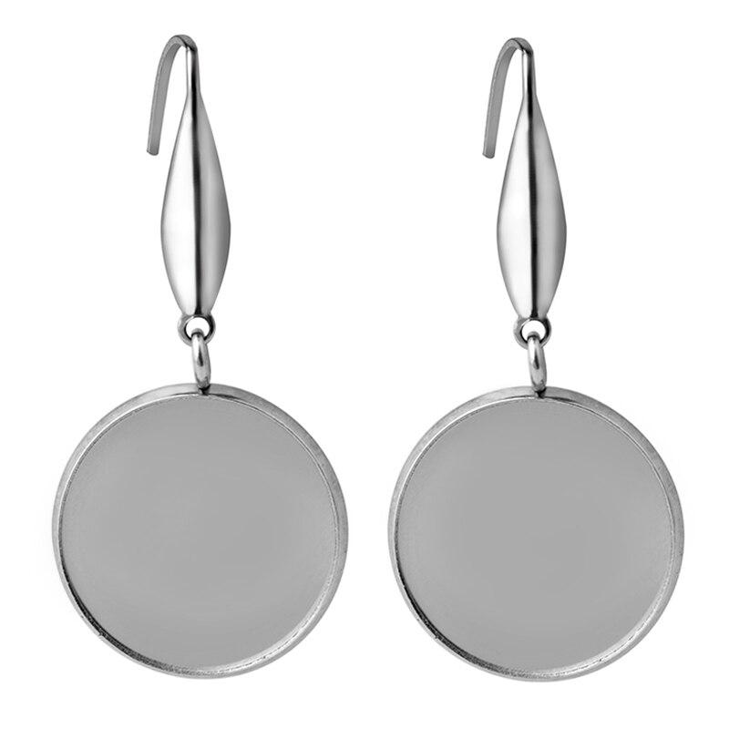 20pcs Metal Oval Drop Cabochon Pendant Blank Bezel Setting Jewelry Findings