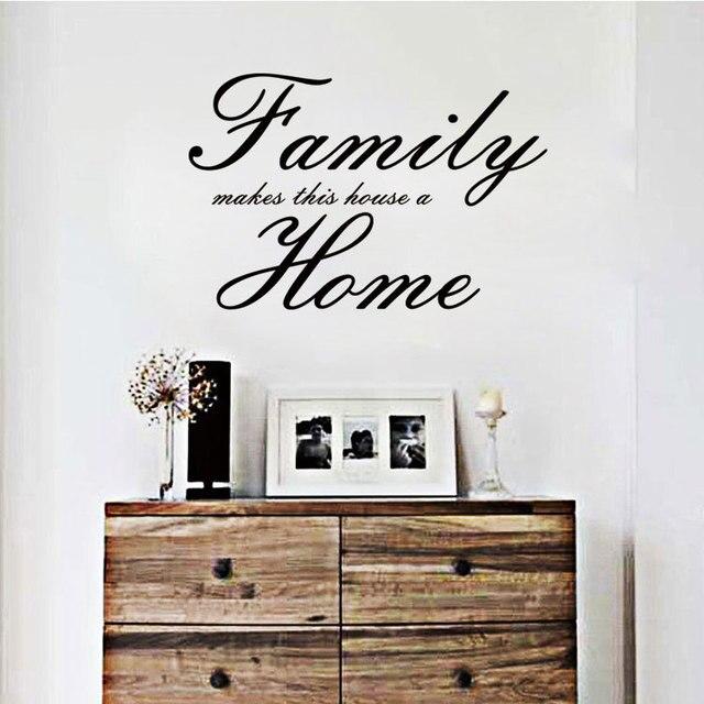 Famille Rend Cette Maison Une Maison Autocollants Anglais Proverbes