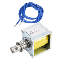 цена на Uxcell New Hot Solenoid Electromagnet DC 6/12V 1.2A 14.4W Push Pull Type Open Frame Solenoid Electromagnet Magnetic Materials