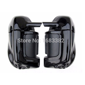Motorcycle Painted Bright Vivid Black Lower Vented Leg Fairing Glove Box Hardware For Harley Davidson Touring HD Road King(China)