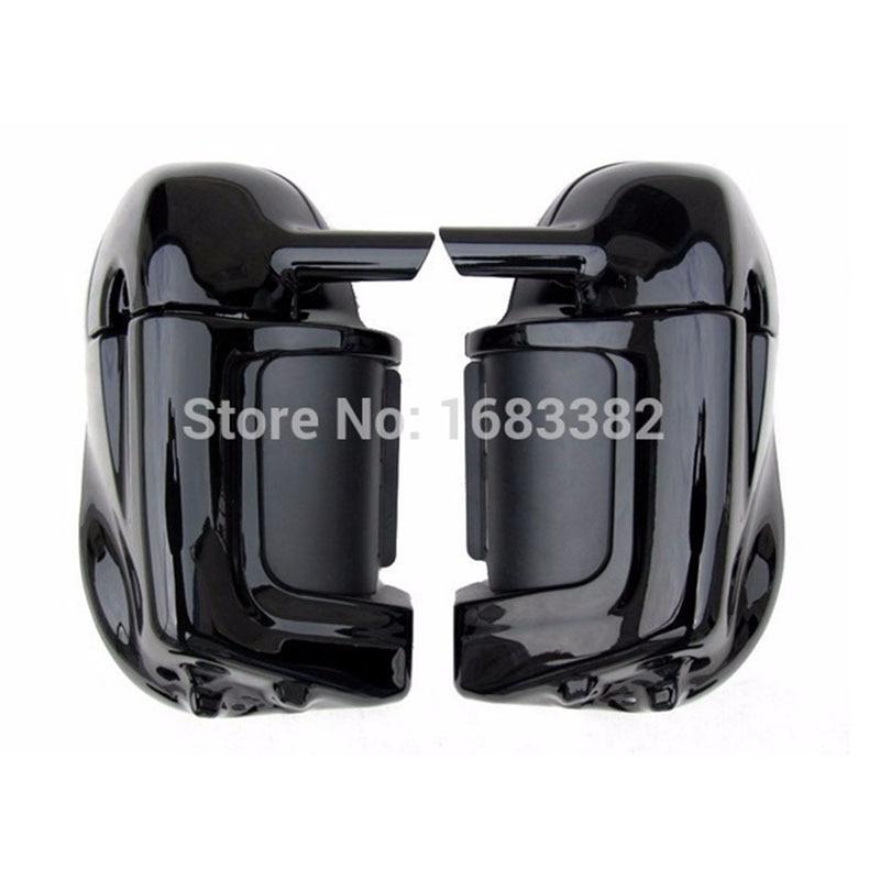 Motorcycle Painted Bright Vivid Black Lower Vented Leg Fairing Glove Box Hardware For Harley Davidson Touring HD Road King стоимость