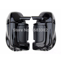 Motorcycle Painted Bright Vivid Black Lower Vented Leg Fairing Glove Box Hardware For Harley Davidson Touring