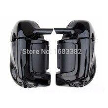 Мотоцикл окрашены яркий черный Нижняя вентилируемые ног обтекатель бардачок аппаратные средства для Harley Davidson Touring HD Road King