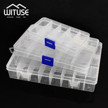 Practical Adjustable 10 15 24 Compartment Plastic Storage Box Jewelry Earring Bead Screw Holder Case Display Organizer Container tanie tanio Pudełka do przechowywania pojemniki Nowoczesne Biżuteria Pudełko na biżuterię Zaopatrzony ekologiczny 100 kg Placu