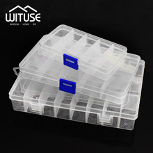 Practical Adjustable 10/15/24 Compartment Plastic Storage Box Jewelry Earring Bead Screw Holder Case Display Organizer Container(China)