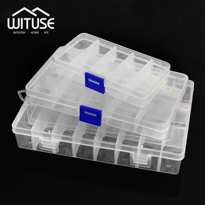 WITUSE Plastic Storage Box Jewelry Case Organizer Container