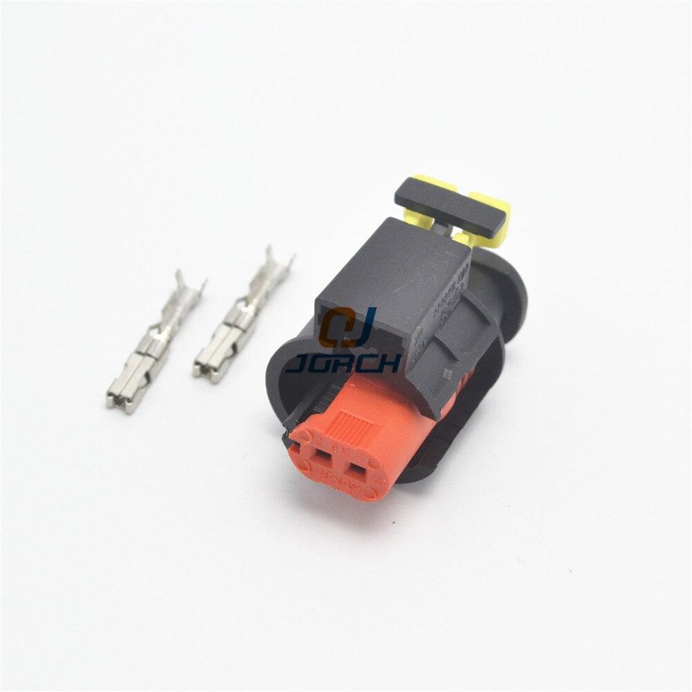 Frete grátis conjuntos 2 2Pin VVT sensor plugs auto cam à prova d água para o escape válvula solenóide conector do chicote 284556- 1