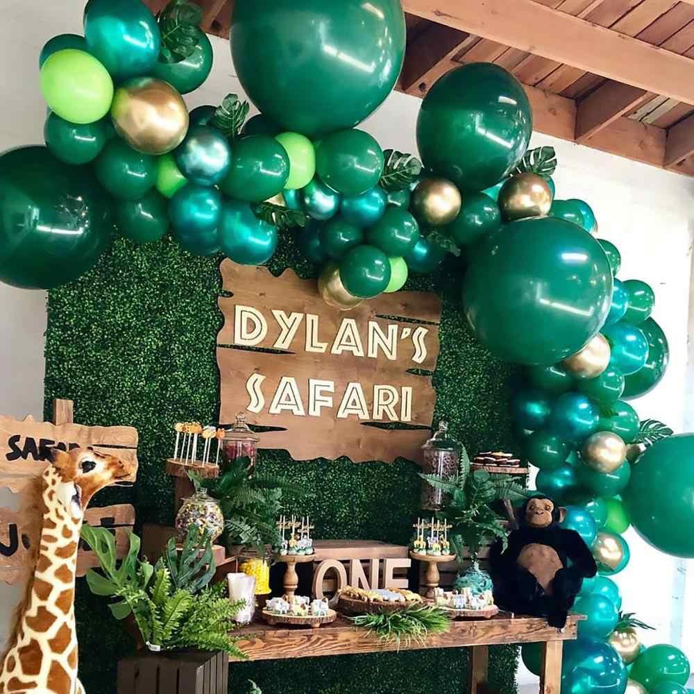Mintสีเขียวลูกโป่งสีเขียวลูกโป่งบอลลูนบอลลูนDark RreenบอลลูนวันเกิดParty Decor Safari Safariป่าParty Decor
